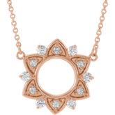 Accented Starburst Necklace or Center