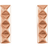 Pyramid Bar Earrings