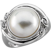 Accented Ring for Mabe Pearl