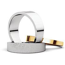Flat Tapered Wedding Bands