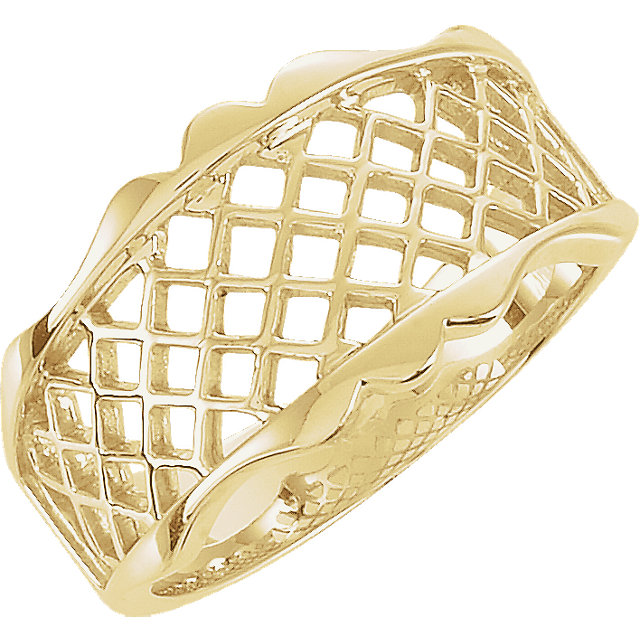 10K Yellow Lattice Design Band