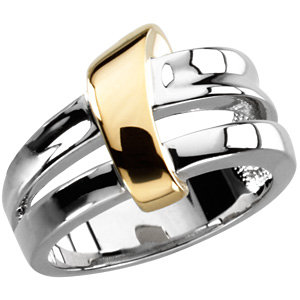 Fashion Rings , 14K Yellow & White Two-Tone Fashion Ring