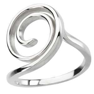 Sterling Silver Scroll Fashion Ring