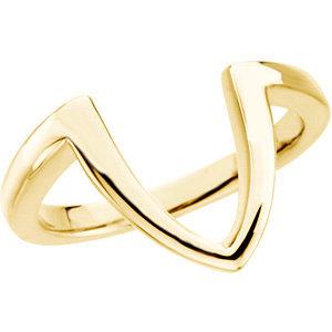 Fashion Rings , 18K Yellow Freeform Ring