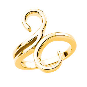 Fashion Rings , 18K Yellow Freeform Ring