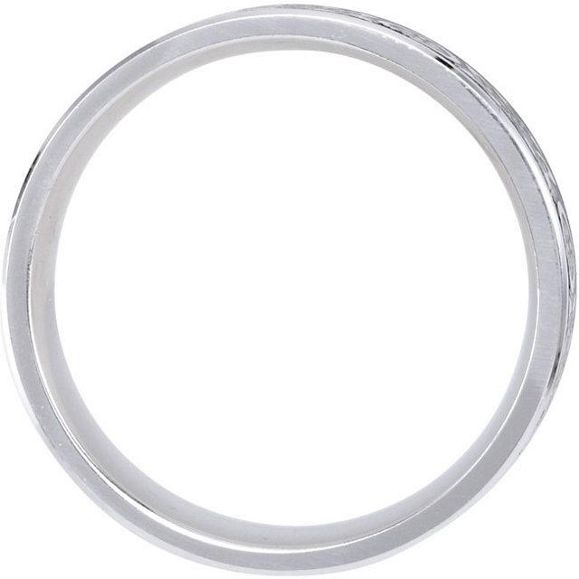 14K White 7 mm Comfort-Fit Enamel Band Size 13