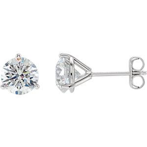 Earrings , 14K Yellow 1/2 CTW Diamond Stud Earrings