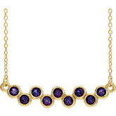 Bezel Set Bar Necklace or Center