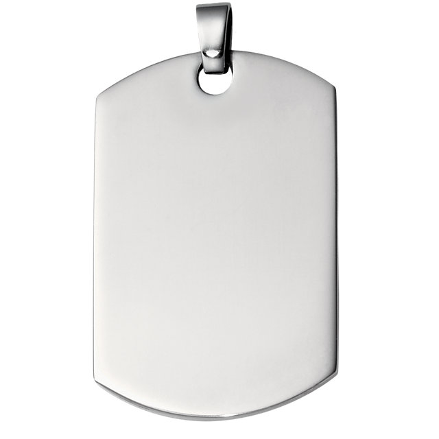 Stainless Steel 48x30 mm Dog Tag