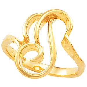 Fashion Rings , Platinum Freeform Ring