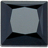 Square Genuine Black Spinel