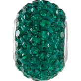 Kera® Emerald-Colored Crystal Pave' Bead