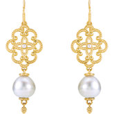 Granulated Earrings for Pearl