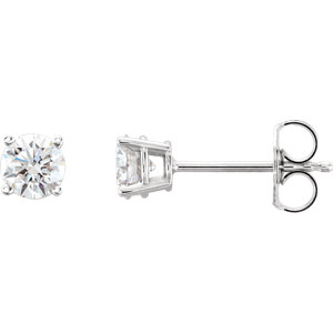 Earrings , 14K White 3/4 CTW Lab-Grown Diamond Stud Earrings