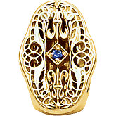Accented Filigree Bracelet Slide