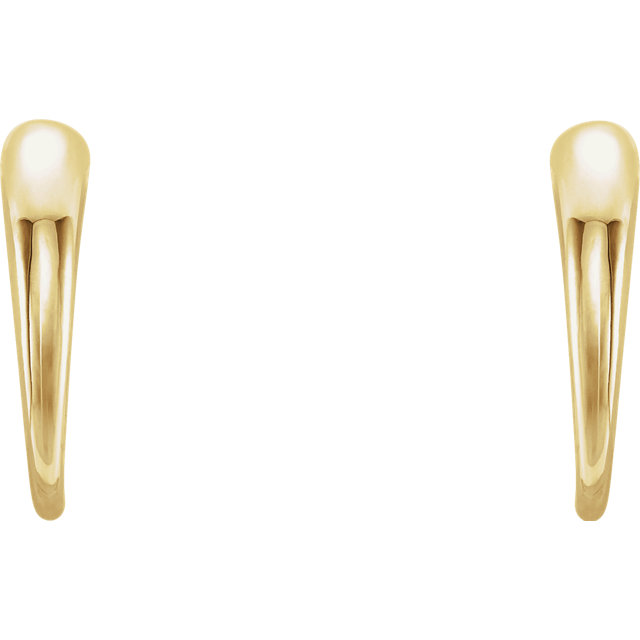 14K Yellow J-Hoop Earrings