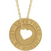 Engravable Love Token Necklace