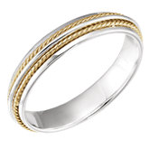 Fancy Rope Wedding Band