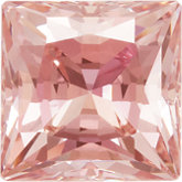 Square SWAROVSKI GEMSTONES™ Lab Created Morganite Pink Cubic Zirconia