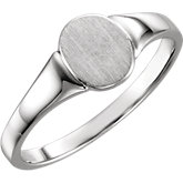 Solid Back Oval Signet Ring