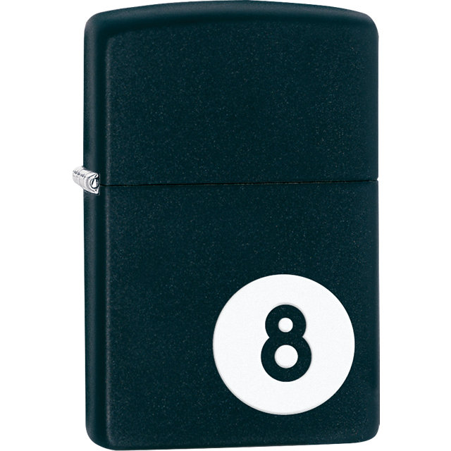 Zippo® 8 Ball Black Matte Lighter