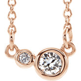 Two-Stone Bezel-Set Necklace or Center