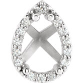 Pear 4-Prong Halo-Style Shank Setting