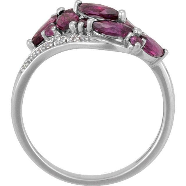 Brazilian Garnet & Diamond Accented Bypass Ring