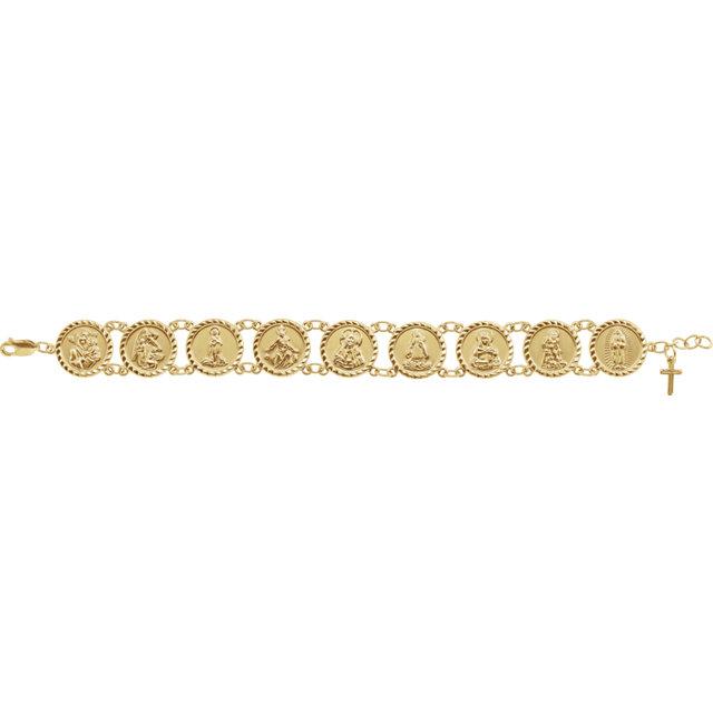 10K Yellow Traditional Saints Bracelet™