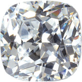 Antique Square White Cubic Zirconia