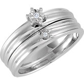 6-Prong Illusion Solitiare Engagement Ring or Band