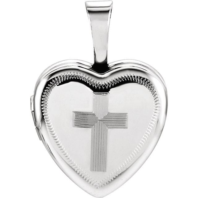 Sterling Silver Locket with Cross