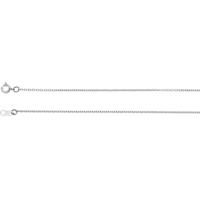 Sterling Silver 1mm Solid Cable 16