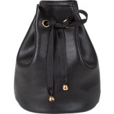 Leatherette Pouch with Satin Drawstring Ribbons