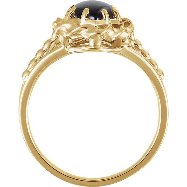 14K Yellow Onyx Rope Ring