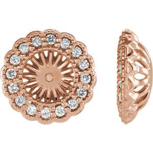 Earring Jackets, 14K Rose 1/2 CTW Diamond Earring Jackets