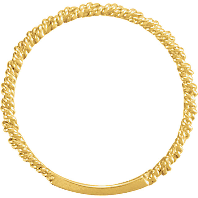 14K Yellow 2 mm Twisted Rope Band