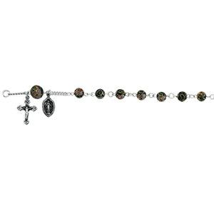 Sterling Silver Cobalt Cloisonné Rosary Bracelet