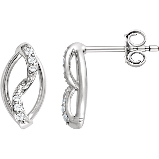 Sterling Silver 1/10 CTW Diamond Earrings