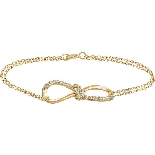 14K Yellow 1/6 CTW Diamond Infinity-Style 7