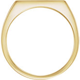 Men's Rectangle Signet Ring