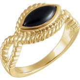 Onyx Rope Ring