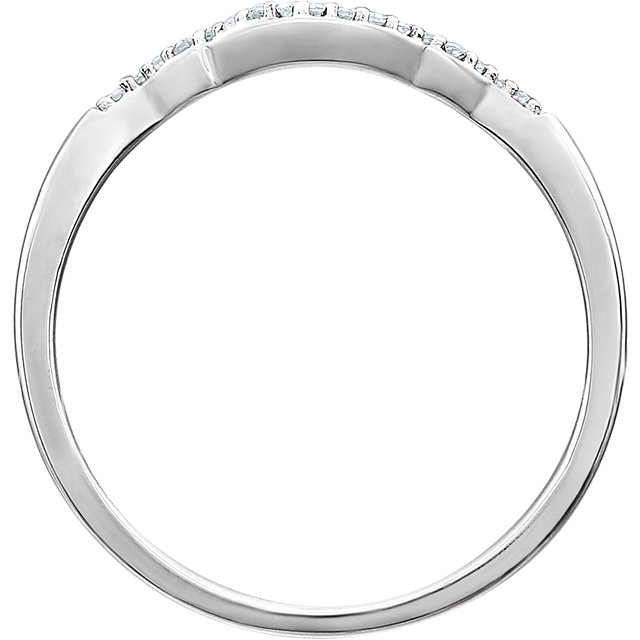 14K White .05 CTW Diamond Band