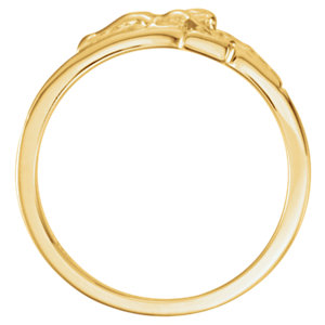14K Yellow Crucifix Chastity Ring Size 8