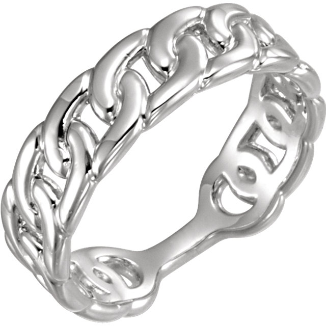Sterling Silver Interlocking Stackable Link Ring
