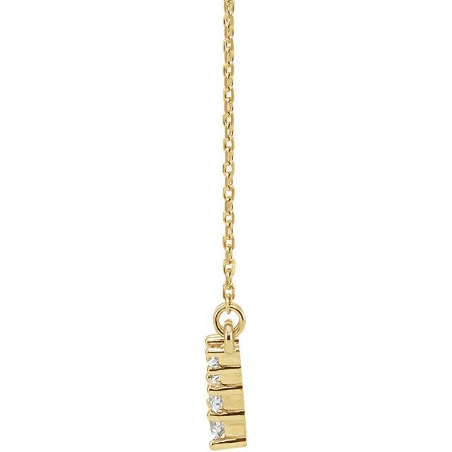 14K Yellow 1/3 CTW Diamond   V Necklace