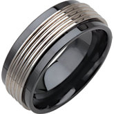 9mm Ceramic Couture® Band with Tungsten Inlay