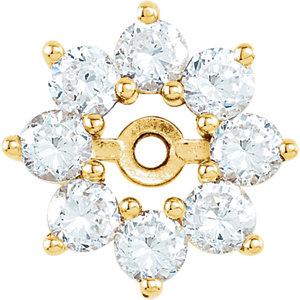Earring Jackets, 14K Yellow 3/4 CTW Diamond Earring Jackets