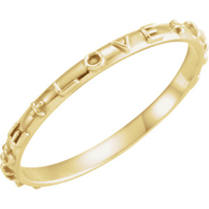 14K Yellow True Love Chastity Ring with Packaging Size 7
