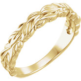 Stackable Leaf Ring